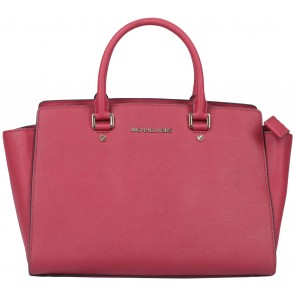 Michael Kors Red Selma Large Saffiano Satchel