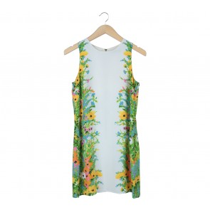 Oasis Off White Floral Sleeveless Mini Dress