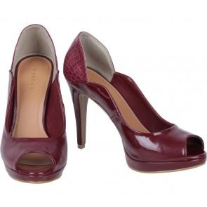 Vincci Maroon Platform Heels