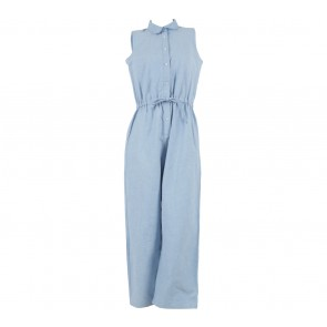 Cotton Ink Blue Sleeveless Jumpsuit