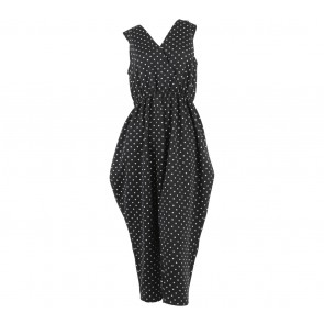 Kloh-Thing Black And White Polka Dot Sleeveless Jumpsuit