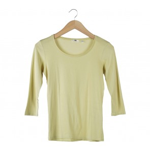UNIQLO Yellow T-Shirt