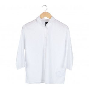 Anokhi White Perforated Shirt