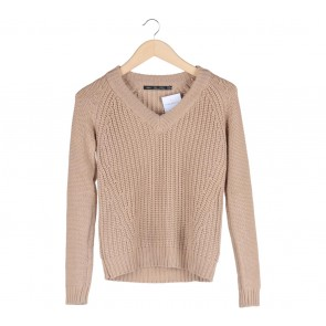 Zara Brown Knit Sweater