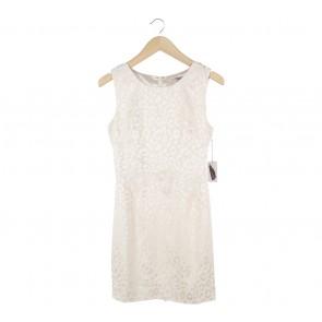 Forever 21 Cream Patterned Mini Dress