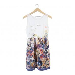 Zara Multi Colour Floral Mini Dress