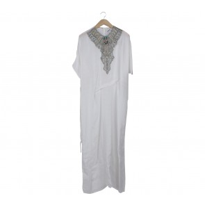 Febianihermaini White Beaded Long Dress