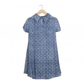Kaetnik Blue Patterned Mini Dress