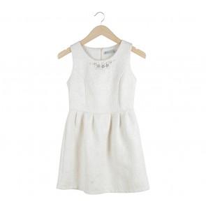Cream Sleeveless Mini Dress