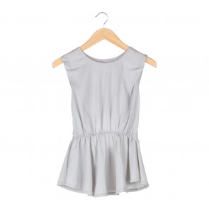 (X)SML Grey Cut Out Blouse