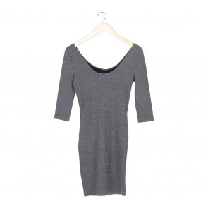 New Look Grey Low Back Mini Dress