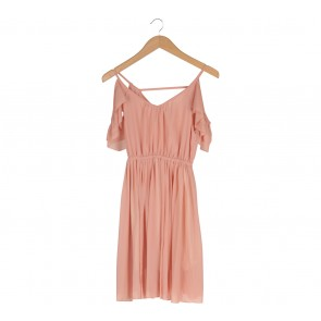 Peach Off Shoulder  Mini Dress