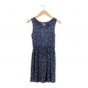 Zara Blue Heart Shaped Sleeveless Mini Dress
