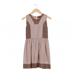 Picnic Multi Colour Patterned Sleeveless Mini Dress