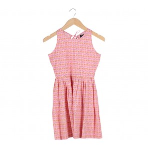 Picnic Pink Low Back Cut Sleeveless Mini Dress
