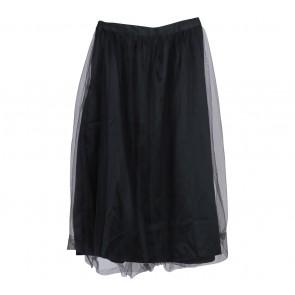 Cotton Ink Black Tulle Skirt