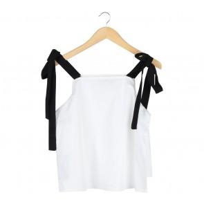 Cotton Ink Off White Off Shoulder  Blouse