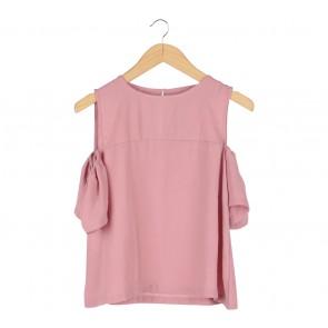 Cotton Ink Pink Off Shoulder  Blouse
