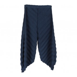 Dark Blue Pleated Pants