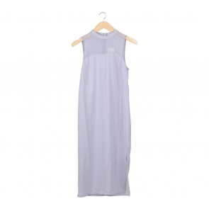 Love, Bonito Grey Sheer Insert Midi Dress