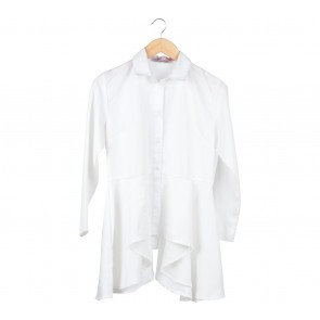 Cotton Ink Off White Asymmetric Shirt