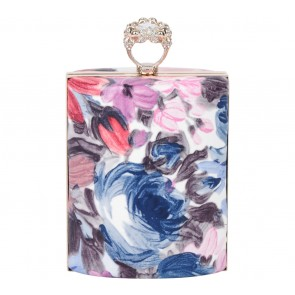 See Blush Multi Colour Floral Ring Clutch