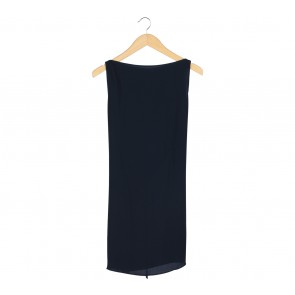 Shop At Velvet Dark Blue Slit Sleeveless
