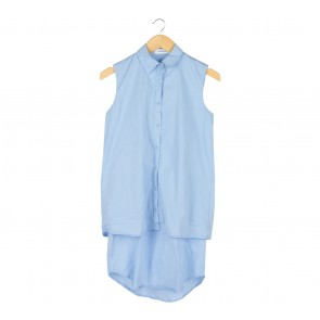 The Editor´s Market Blue Sleeveless Midi Dress