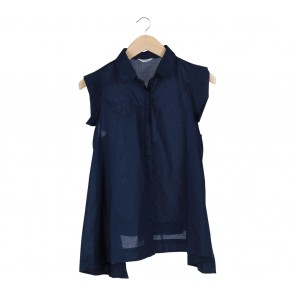 Stitched Blue Cape Sleeve Shirt