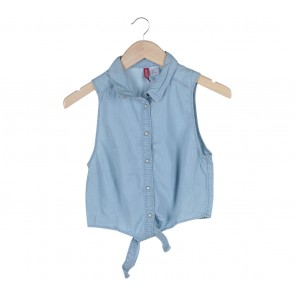 Divided Blue Sleeveless