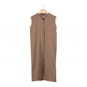 8Wood Brown Sleeveless Outerwear