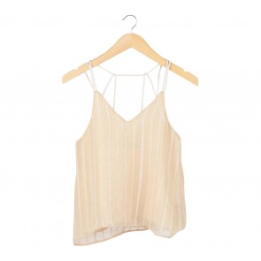 Agree to Shop Cream Sleeveless
