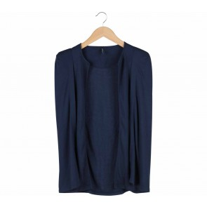 Vivaldi Dark Blue Cape Blazer
