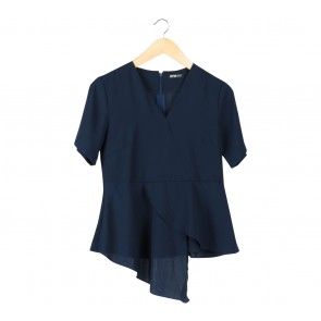 Dark Blue Layered Blouse