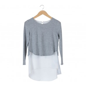 Evergreen Grey And White Blouse