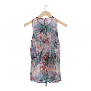 Zara Multi Colour Floral Sleeveless