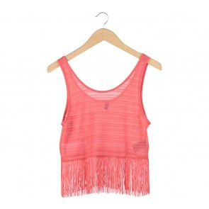 Divided Orange Frill Sleeveless