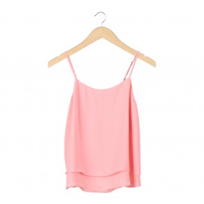 MNG Basic Pink Layered Sleeveless