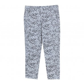 GAP White Houndstooth Zig-zag Pants