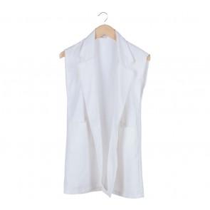 Fleur White Vest