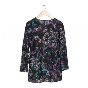 Marks & Spencer Black Floral Mini Dress