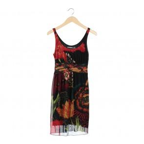 Desigual Multi Colour Floral Mini Dress