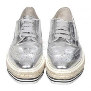 Prada Silver Sneakers