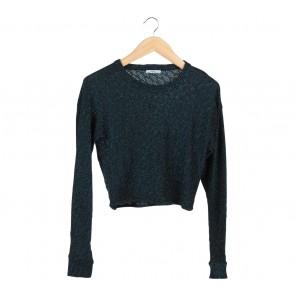 Zara Black And Blue Sweater
