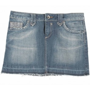 Mango Dark Blue Denim Short Skirt