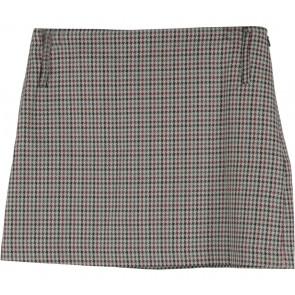Mango Multi Colour Houndstooth Short Skirt