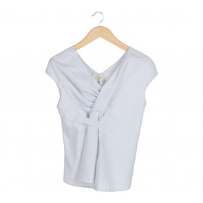 (X)SML White And Black Striped Blouse