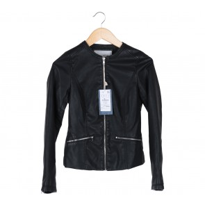 Pull & Bear Black Leather Jacket
