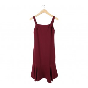 Cloth Inc Maroon Midi Dress