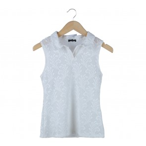 Cloth Inc White Sleeveless